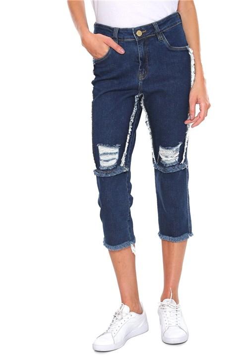 Calça Jeans Osmoze Boyfriend Cropped Azul