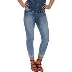 Calça Jeans Sawary Cropped Cintura Alta