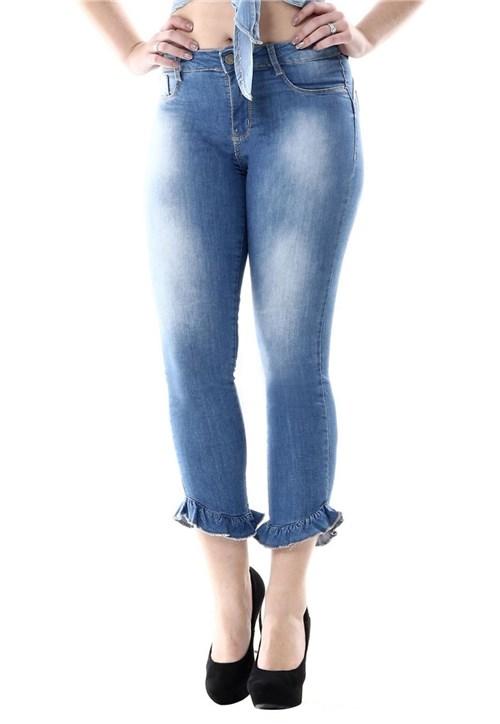 Calça Jeans Sawary Cropped Heart Azul