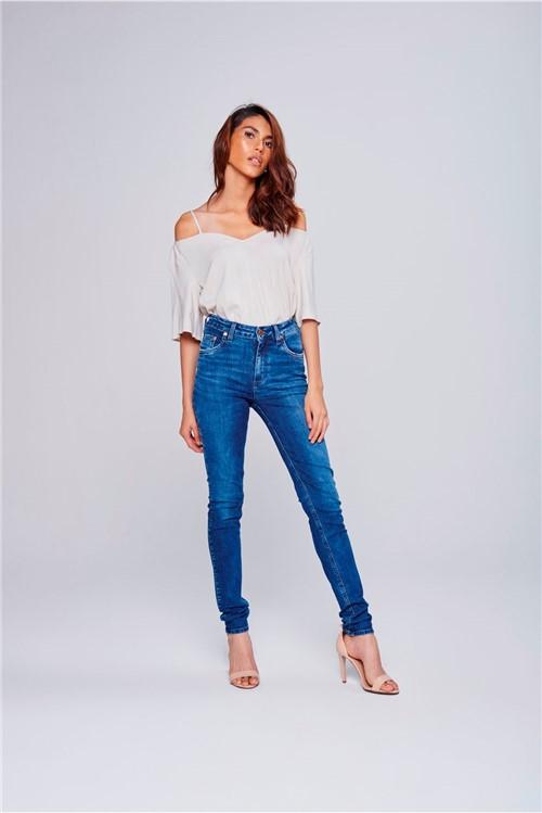 Calça Jeans Skinny Cintura Alta Feminina