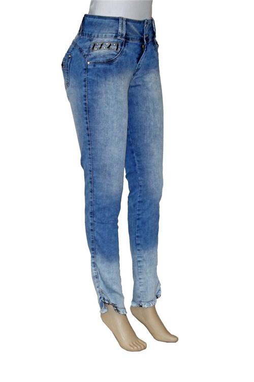 Calça Jeans Skinny Cropped (Azul Jeans Estonado, 40)