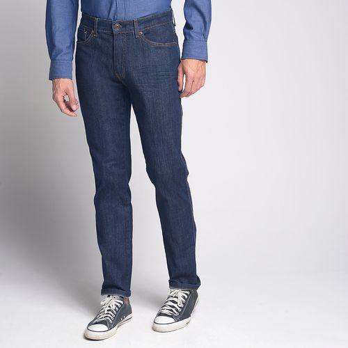 Calça Jeans Slim Bigode Azul Escuro - 42