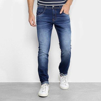 Calça Jeans Slim Zune Estonada Masculina
