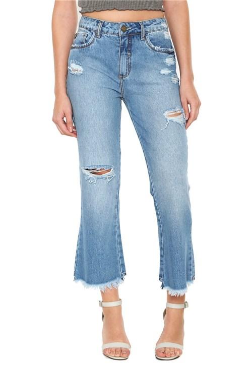 Calça Jeans Triton Cropped Flare Azul