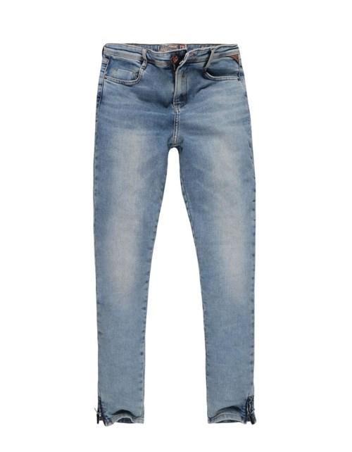 Calça Khelf Jeans Cintura Alta Jeans Delave