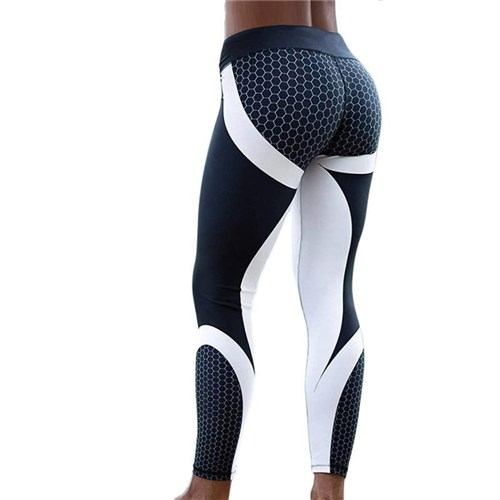 Calça Legging Esportiva Fitness Hayoha / Amarelo / L