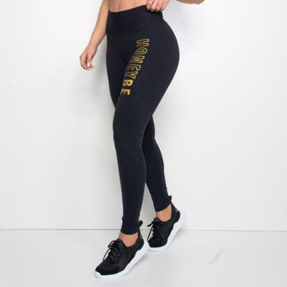 Calça Legging Fitness Poliamida Honey Be Feminina