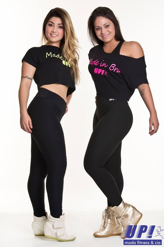 Calça Legging Preta Lisa Up Fitness