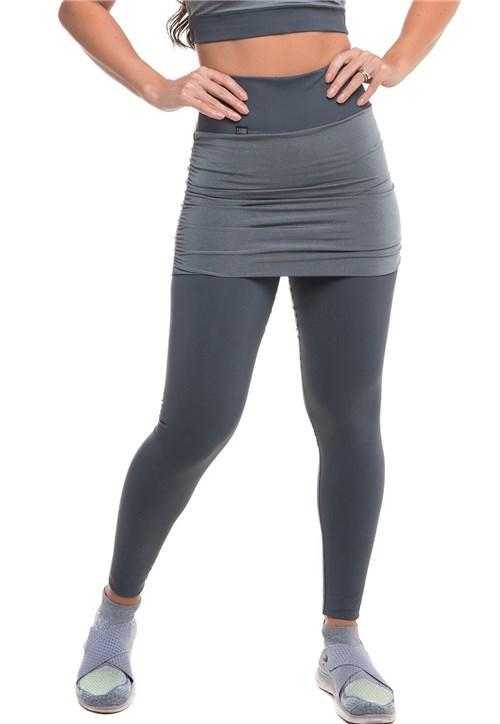 Calça Legging Sandy Fitness Fusion Cinza