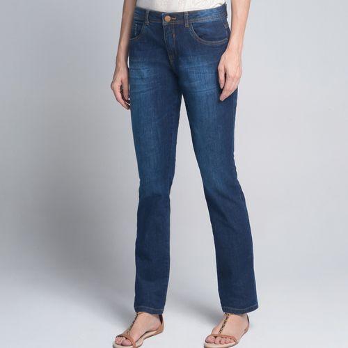 Tudo sobre 'Calça Regular Lavagem Escura Jeans - 36'