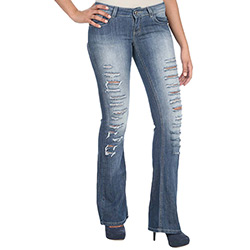 Calça Sawary Jeans Boot Cut Destroyed