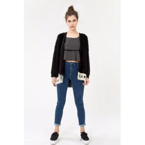 Calca Skinny Cintura Alta Jeans - 40