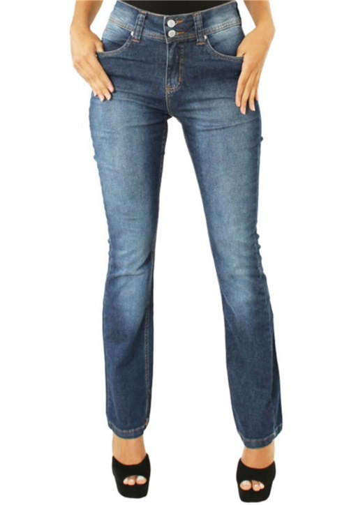 Calça Unak Flare Cintura Alta Jeans