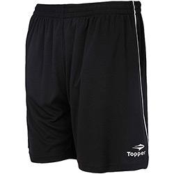 Calção Topper Futebol Goal - Preto/Branco