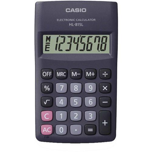 Tudo sobre 'Calculadora de Bolso 8Digitos Preta Casio'