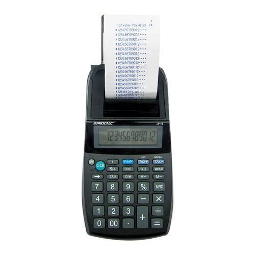 Tudo sobre 'Calculadora de Impressão Lp18 Procalc'