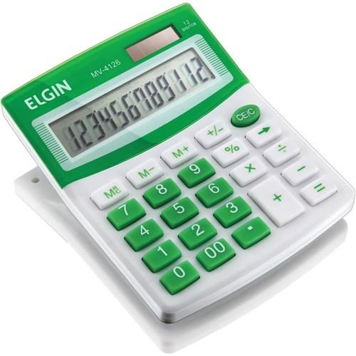 Calculadora de Mesa - Mv4126 - Elgin (Verde)