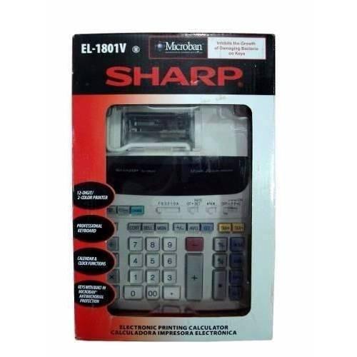 Tudo sobre 'Calculadora de Mesa Sharp El-1801v com Bobina'