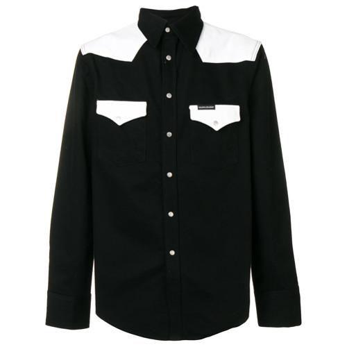 Tudo sobre 'Calvin Klein Jeans Camisa Color Block - Preto'