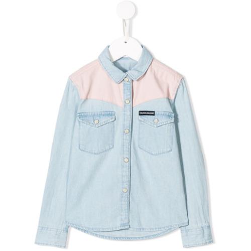 Tudo sobre 'Calvin Klein Kids Camisa Jeans - Azul'