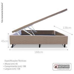 Cama Box Baú Casal 138X188x45 - Jrd - BEGE