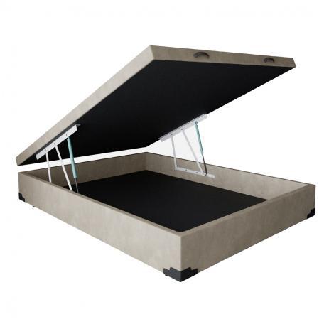 Cama Box Bau Casal Bege 138x188 - Md