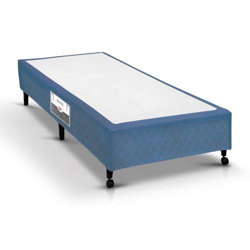 Cama Box Castor Poli Azul - Solteiro - 0,88x1,88x0,23