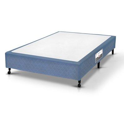 Cama Box Simples Castor Solteiro Poli Azul 78x188x27cm 09149 -