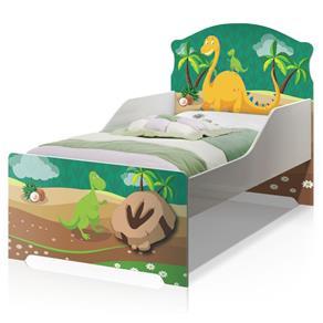 Cama Infantil Uly Dinossauro - Branco