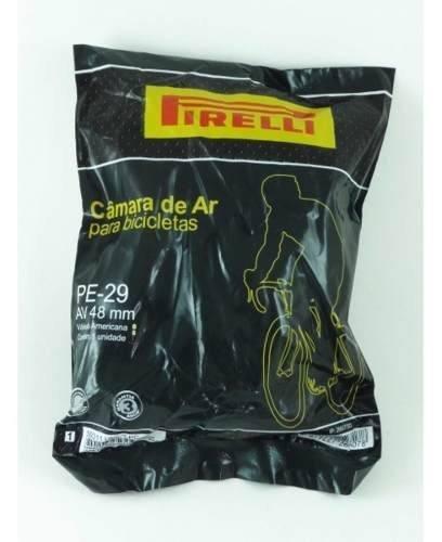 Câmara de Ar Mtb Pirelli Aro 29 48mm Schrader Bico Grosso