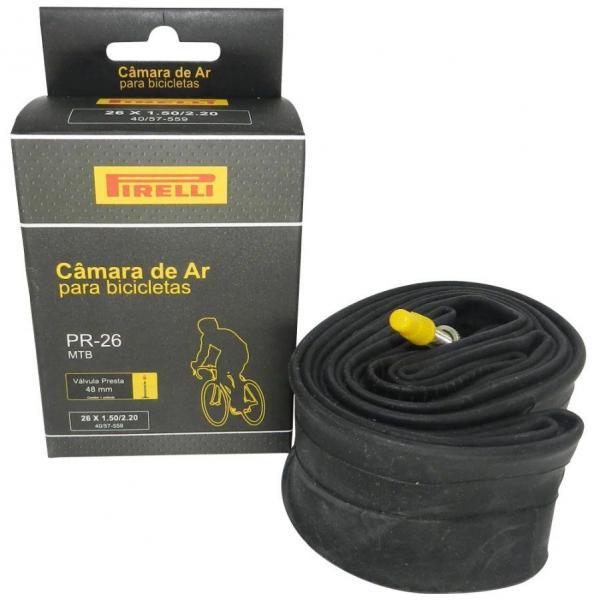 Camara de Ar Pirelli PR-26 Valvula Presta 48mm 26x1.50/2,20