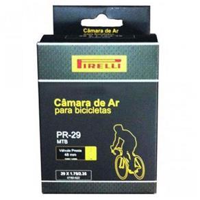 Câmara Pirelli PR-29 MTB 29x1.75/2.35 C/ Válvula Presta 48mm - PRETO