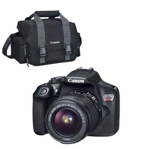 Câmera Canon Digital Profissional Rebel T6 18-55 + Bolsa Canon Original