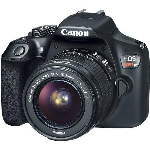 Tudo sobre 'Câmera Canon Dslr Eos Rebel T6 com Lente 18-55mm'
