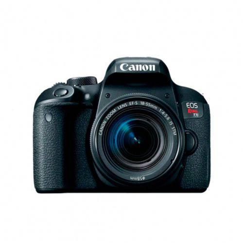 Tudo sobre 'Câmera Canon Eos T7i 18-55mm F3.5-5.6 Is Stm'