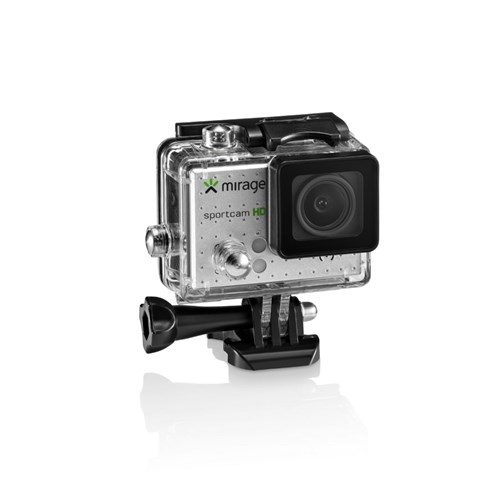 Câmera de Ação Sport Hd, Tela de Lcd 2' 5Mp + Cartão 16Gb Prata Mirage - Mr3000