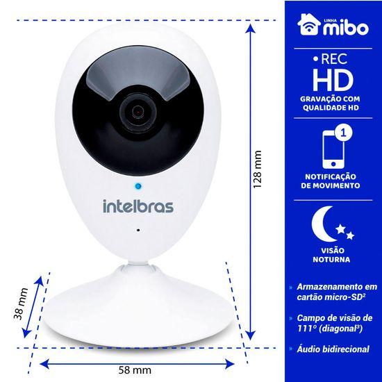 Câmera de Segurança Intelbras Wi-Fi HD IC3 4565249