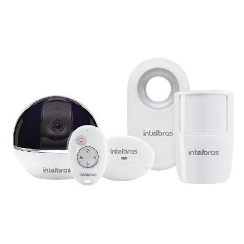 Camera de Seguranca Wi-fi Hd Giro 360o com Alarme Integrado Controle Sem Fio Ic7s