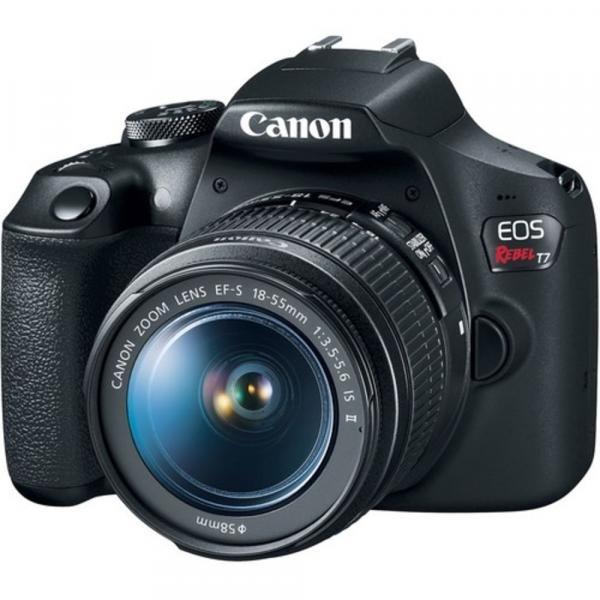 Câmera Digital Canon T7 com Lente EF-S 18-55mm