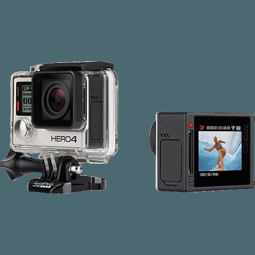 Tudo sobre 'Câmera Digital GoPro Hero 4 Silver Adventure 12MP com WiFi Bluetooth e Gravação 4K'