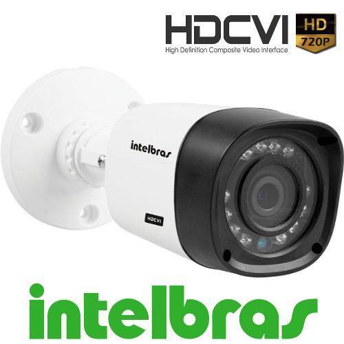 Camera Intelbras Infra Hdcvi 720p HD Vhd 1010 Bullet 3,6 Mm