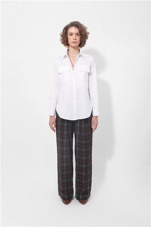Tudo sobre 'Camisa Classica com Bolso Branco'