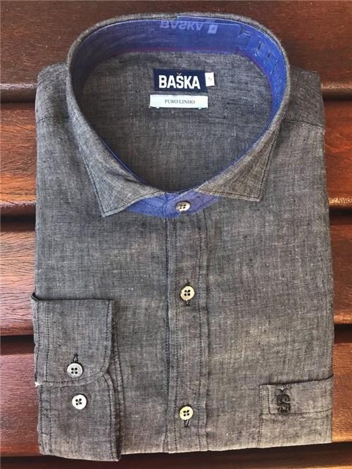 Camisa de Linho Manga Longa Preta (1)