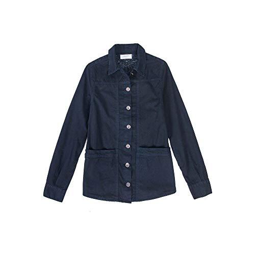 Camisa de Tecido Azul Marinho Azul Marinho/G