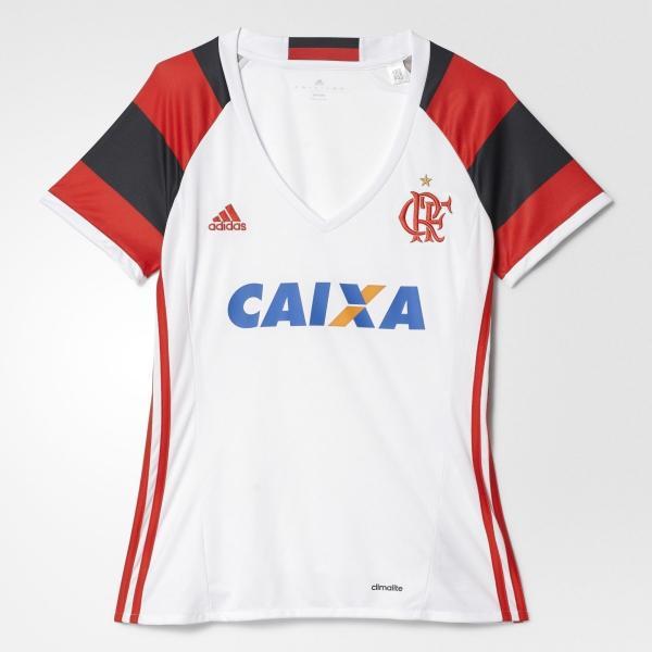 Camisa Feminina Flamengo Adidas Branca 2017