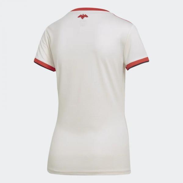Camisa Feminina Flamengo Adidas Branca