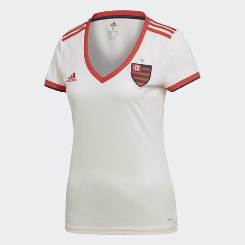 Camisa Feminina Flamengo Adidas II Branca 2018 2019 CF9049