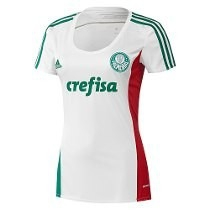 Camisa Feminina Palmeiras Adidas Branca 2015