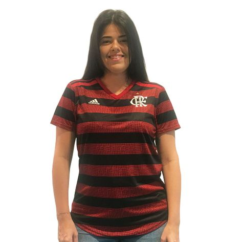 Camisa Flamengo Feminina Jogo 1 Adidas 2019 G