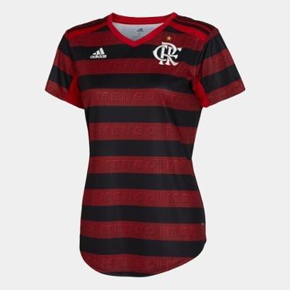 Camisa Flamengo I 19/20 S/n° Torcedor Adidas Feminina